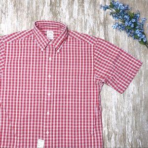 NWT {Brooks Brothers} Mens Seersucker Check Shirt